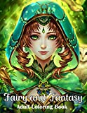 Fairy and Fantasy Adult Coloring Book: Large Print Coloring Book for Teens and Adults