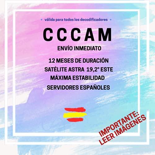 🥇 CCCAM Premium - 12 Meses - ESPAÑA - Cline con ENVÍO EN 30 Minutos - Estable 100%- Importante: Leer IMAGENES