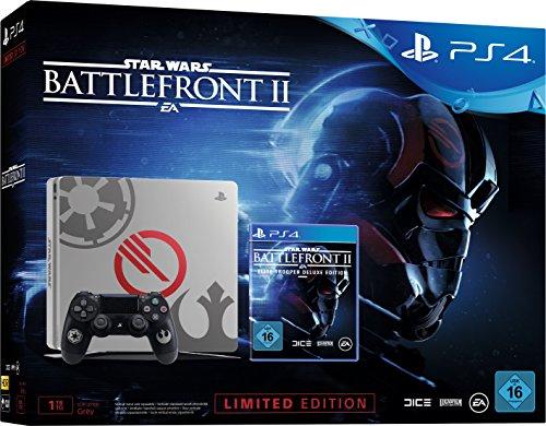PlayStation 4 - Konsole (1TB, schwarz) im Limited Star Wars Battlefront 2 Design inkl. Star Wars Battlefront II Elite Trooper Deluxe Edition (exkl. bei Amazon.de)