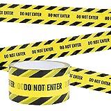 Irich Ruban D'avertissement, 25M DO NOT ENTER Bandes de Sécurité Adhésive Ruban de Signalisation Jaune pour Utiliser Lieu de Travail et Zone Dangereuse (Noir/Jaune)