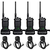 Retevis RT86 Two Way Radios Long Range Rechargeable,High Power Heavy Duty 2600mAh 2 Way Radios,Emergency USB Charging Rugged Walkie Talkies Adults with Shoulder Mic(4 Pack)