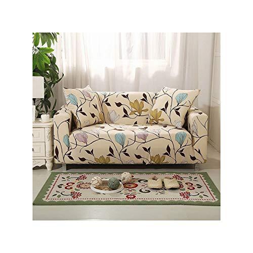 Elegante Moderne Sofa-Abdeckung Spandex elastische Polyester Blumen Couch Husse Stuhl-Wohnzimmer-Möbel-Schutz, Modell 20.3 Seat (190-230cm)
