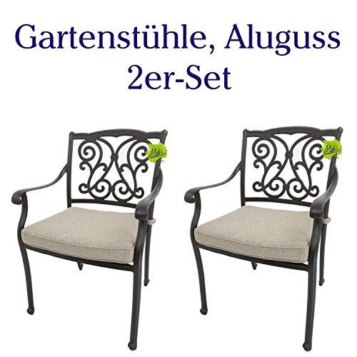 Hanseatisches Im- & Export Contor GmbH Gartenstühle, Aluguss (2er-Set)