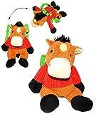 alles-meine.de GmbH Plüsch Rucksack -  lustiges Pferd / Esel  - Kinderrucksack - Plüschtier - Kuscheltier - Tier Tiere - Pferde - für Kinder Kindergartenrucksack Kindertasche -..