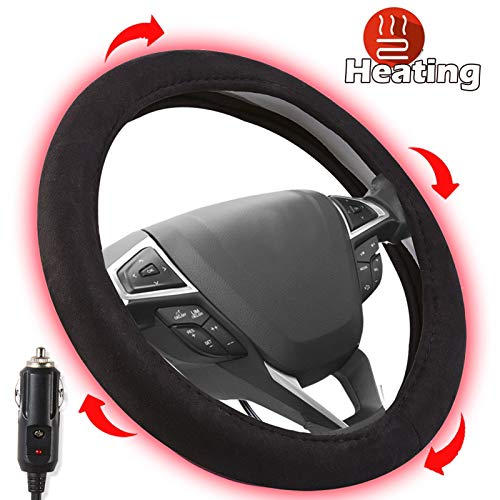 Small Ant Heated Steering Wheel Cover,2021 Upgraded 12V Heated...