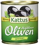 Kattus Spanische schwarze Oliven, entsteint, 8er Pack (8 x 85 g)