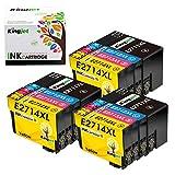 Kingjet Ersatz für Epson 27 27XL Druckerpatronen Kompatibel mit Epson Workforce WF-7210DTW WF-7710DWF WF-7720DTWF WF-3620DWF WF-3640DTWF WF-7110DTW WF-7610DWF WF-7620DTWF WF-7715DWF Drucker