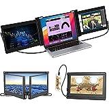 Monitor Portátil para Laptop, Extensor de Monitor Giratorio de Triple Pantalla, Extensor de Pantalla para Laptop/Teléfono /11.6' FHD/1080p/Compatible con Laptop 13-16' Mac Windows Chrome portátil