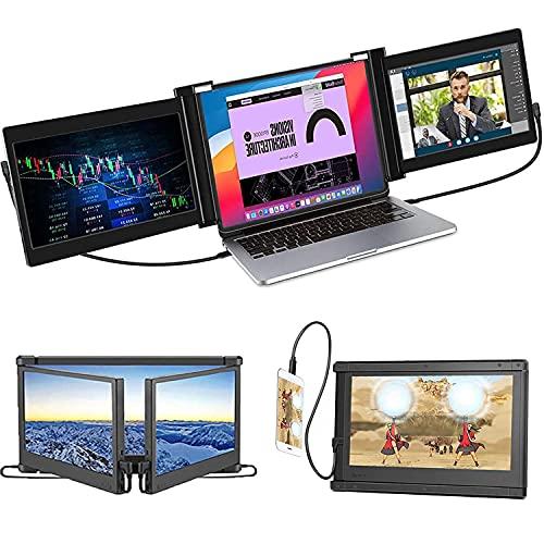 """Monitor Portátil para Laptop, Extensor de Monitor Giratorio de Triple Pantalla, Extensor de Pantalla para Laptop/Teléfono /11.6"""" FHD/1080p/Compatible con Laptop 13-16"""" Mac Windows Chrome portátil"""