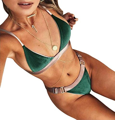 Minetom 2017 Mujeres Push-Up Acolchado Bra Beach Bikini Set Traje De Baño...
