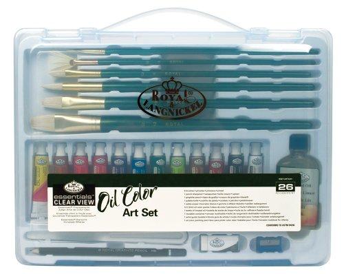 Royal & Langnickel Essentials - Set colori a olio in grande cassetta trasparente