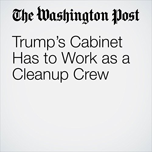 Trump's Cabinet Has to Work as a Cleanup Crew copertina