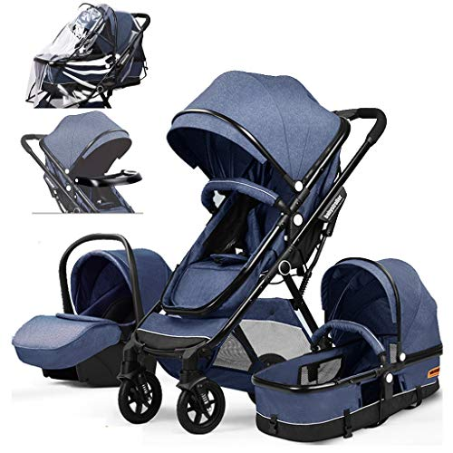 Best Buy! Heay Baby Stroller Bassinet Pram Carriage, Newborn Carriage Infant Reversible Bassinet wit...