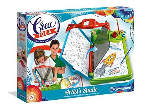 Clementoni - 15238 - Crea Idea - Artist's Studio - Made in Italy - disegno - gioco creativo, 7 anni+