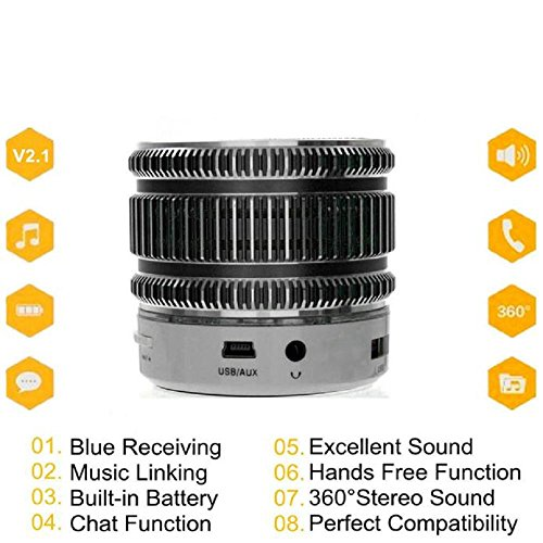 Super bass Speaker ZIYUO Mini Portable Wireless Bluetooth Stereo Speaker LED light for iPhone Tablet PC