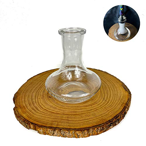 Russische Mini-Premium-Basis aus mundgeblasenem Glas, 4,5 cm Durchmesser, kompatibel mit Shisha Nomad und verschiedenen Marken (Mini-Basis)