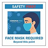 Face Mask Required Sign – Pack of 2 Static Cling Sign 5.5x5.5 Inches Face Mask Required to Enter Decal Sticker Restaurant Grocery Store Coffee Shop Business (2)