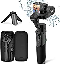 3axis Gimbal Stabilizer for GoPro Action Camera Handheld Pro Gimbal Tripod Stick with Motion Time-Lapse APP Control for Gopro Hero 7,6,5,4,3,SJ CAM,YI Cam,Sony RX0 - Hohem, Black