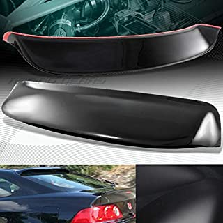 Black ABS Plastic Rear Window ROOF Visor Spoiler Wing Compatible with Acura RSX DC5 02-06