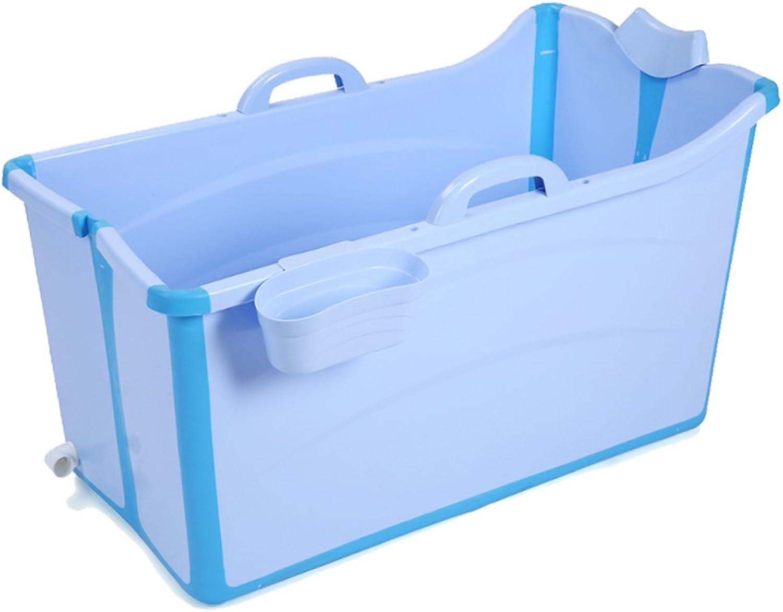 Aufblasbare Badewanne Faltbarer Badewannen-Eimer Mit Groem Babybabybadewanne (Farbe   Blau)