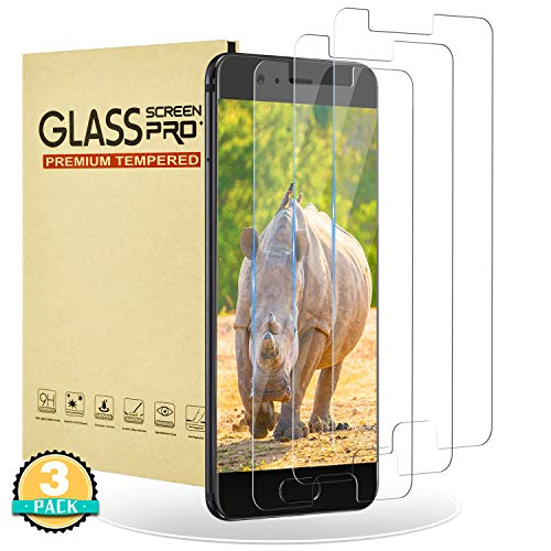 RIIMUHIR Protector de Pantalla para Huawei P10,[3 Piezas] Cristal Templado Premium,Dureza 9H Anti-Scratches,Sin Burbujas,Compatible con 3D-Touch