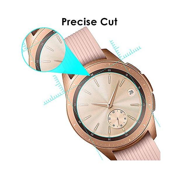 KIMILAR [3 Pcs] Pantalla Compatible con Samsung Galaxy Watch 42mm/Galaxy Watch 3 41mm Protector Pantalla, Templado… 7