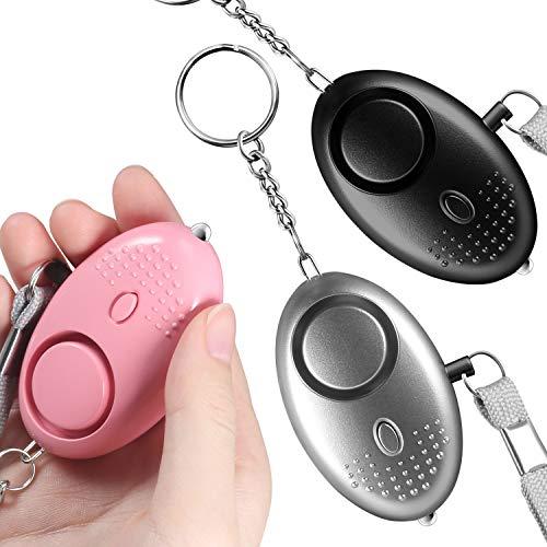 Seguridad Personal,Alarma de Bolsillo de 140 Decibeles,Mini Llavero de Alarma con Linterna Mini...