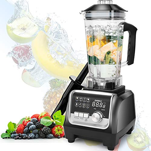 OMMO Blender 1800w, Professional Countertop Blender Smoothie Maker with Built-in Timer, High Power...
