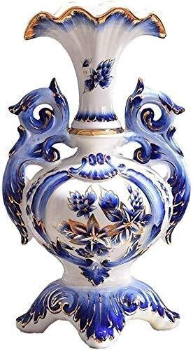 Living Decoration Vases Ceramic Decoration Living Room Floor Large Fake Flower Hydroponics 300 * 500mm Flower