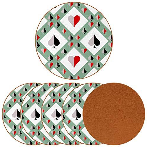 Posavasos para bebidas – Juego de posavasos – Regalo de inauguración de la casa – Juego de 6 fichas de póquer
