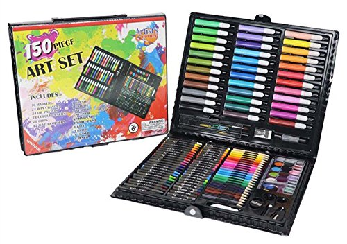 Aidle Deluxe Art Drawing Sets, 150 Stück für Malbücher, Bilder zeichnen, Notizen schreiben, sortierte Farben