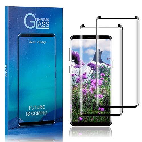 Bear Village Displayschutzfolie für Galaxy S9, Blasenfrei, Anti Fingerabdruck, Ultra Dünn HD Schutzfolie aus Gehärtetem Glas für Samsung Galaxy S9, 2 Stück