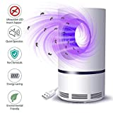 Bug Zapper, Electric Mosquito&Fly Zappers/Killer - Insect Attractant Trap Powerful Bug Light, Sticky Glue Boards - Chemical Free - Child Safe, Intelligent Mosquito Lamp for Indoor, Outdoor, Patio