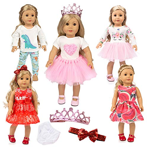 American Doll Clothes 18 Inch Unicorn Girl Doll Clothes and Accessories Girls Doll Clothes Gift , Doll Clothes Sets of Clothing Outfits American Dolls Clothes Gifts , My Life Baby Journey Doll Clothes