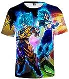 Silver Basic Camiseta Unisex de Dragon Ball Goku con Estampado 3D para Hombres y Niños Camiseta de Manga Corta de Verano 00732-1,XS