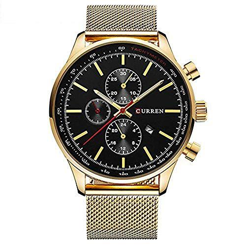Herren Analoge Quartz Uhren Casual Sport Armbanduhr, Wasserdicht mit Datumsanzeige und 3 virtuelle dekorative Zifferblätter 8227
