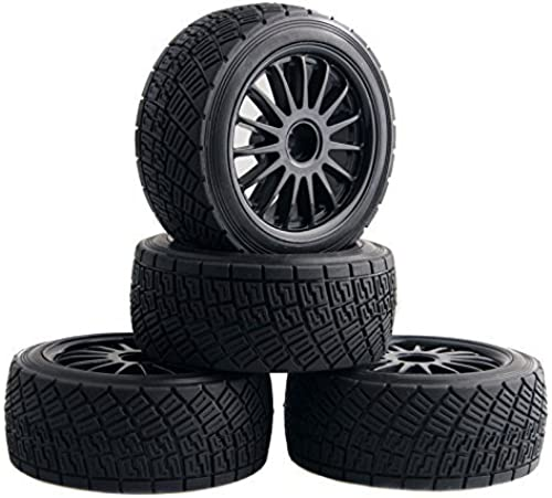 forma única WR8 Tarmac Wheel With Tires Tires Tires For HPI Rally Off-Road WR8 Tyres Pack Of 4 negro by WR8  comprar mejor