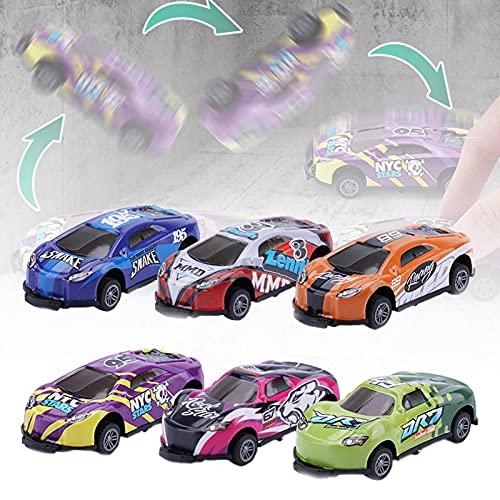WENLIANG Coches De Juguete para NiñOs,Coche Metalico Juguete,Jumping Stunt Toy Car PequeñO,RotacióN Volteo De 360°,Coches De Juguetes Metalicos Conjunto De Juguetes para NiñOs NiñAs (6pcs)