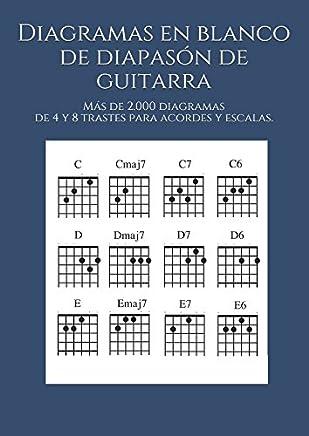 Diagramas en blanco de diapasón de guitarra: Más de 2.000 diagramas de 4 y 8
