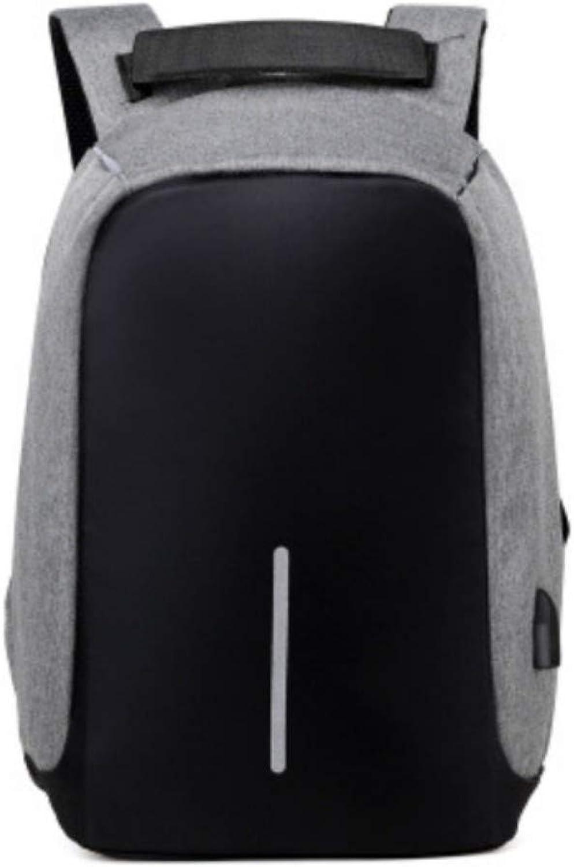 Anti-Diebstahl-Mnner Business Computer Rucksack Umhngetasche College High School Student Tasche weibliche Laptop-Tasche, grau