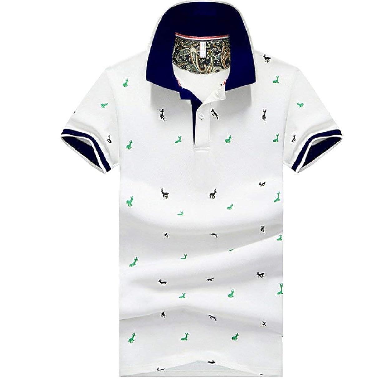 崖頼むかもしれない[ SmaidsxSmile(スマイズ スマイル) ] ポロシャツ トップス 半袖 柄 ボタン 襟付 カジュアル ゴルフウェア メンズ