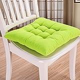 Cojín para silla de interior y exterior, mimbre macizo, cojines para silla de cocina, jardín, comedor, 35 x 34 cm, cojín para silla 40cm by 40cm verde