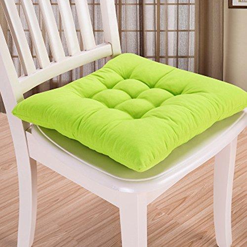 Cojín de silla para interiores y exteriores, de mimbre, para cocina, jardín, comedor, 35 x 34 cm, cojín para silla (40 x 40 cm), color verde