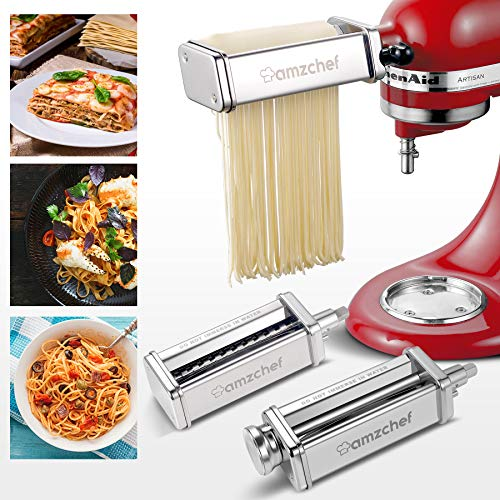ANTREE 3 in 1 Pasta Maker Attachment Set for KitchenAid Mixers Now $49.98