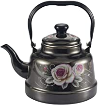 Kookplaat waterkoker melk theepot, glazuurketel, kleine spiegel glazuur, wit glazuur, oude Bell waterkoker, inductiekookpl...