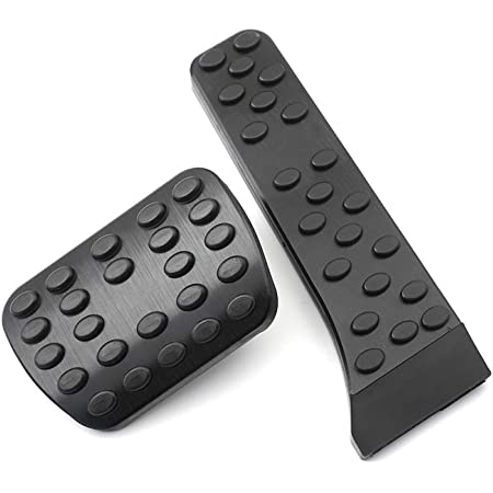 BOYUER Anti-Slip No Drilling Aluminum Brake and Gas Accelerator Pedal Pad Cover//////AMG LOGO For Mercedes-Benz C E S GLC GLE GLS CLS Class W205 W213 X253 W167 Foot Pedal Pads Kit 2PCS Black