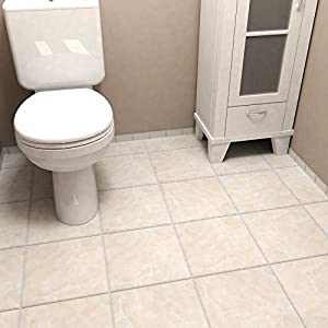 """SomerTile FTC12GBE Sigma Ceramic Floor and Wall Tile, 11.75"""" x 11.75"""", Beige/Cream"""