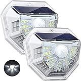 LITOM Luces solares Luces con sensor de movimiento solar para exteriores,IP65 Impermeablr,Decoración e Iluminación 2 EN 1 para pared