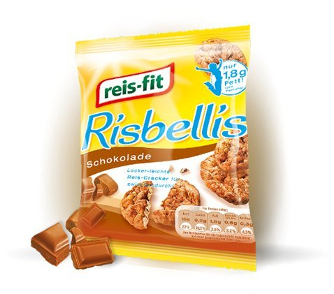 Reis-Fit Risbellis süß Schokolade, 8er Pack (8 x 0.04 kg)