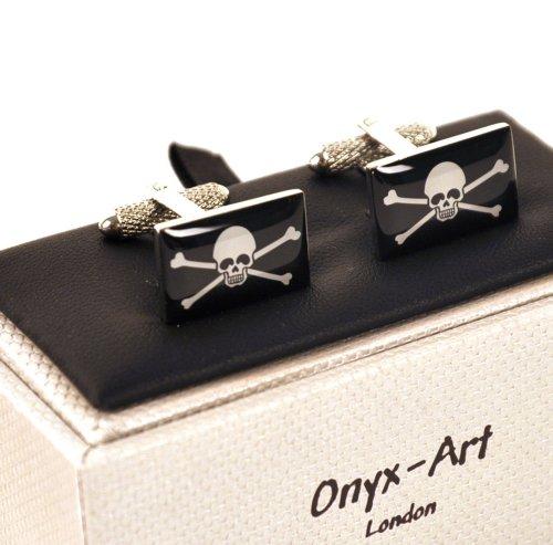 Cufflinks - Jolly Roger Skull & Crossbones